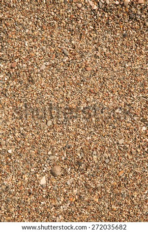 Different stones pebble beach. Toned. - stock photo