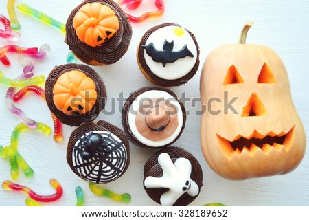 Different sweets for Halloween party