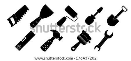 Different tools icon  illustration set1 - stock photo