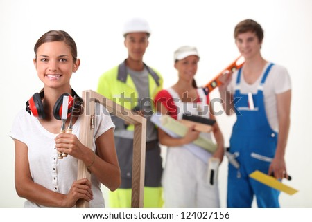 Different trades - stock photo