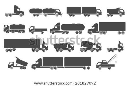 Different trucks. Raster version - stock photo