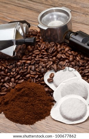 different type of coffee - stock photo