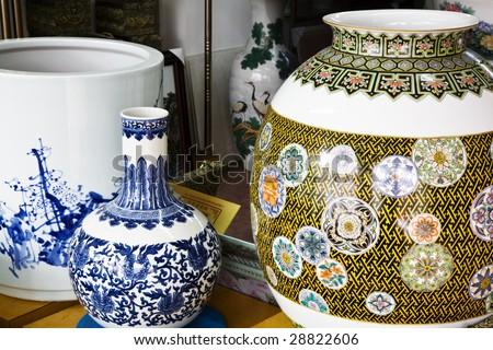 different  type of Vases - stock photo