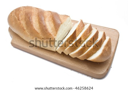 Different types of bread isolated on white