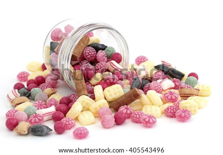 Different types of candy - stock photo