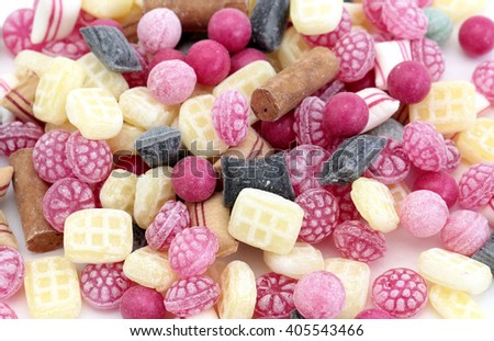 Different types of sweets - stock photo