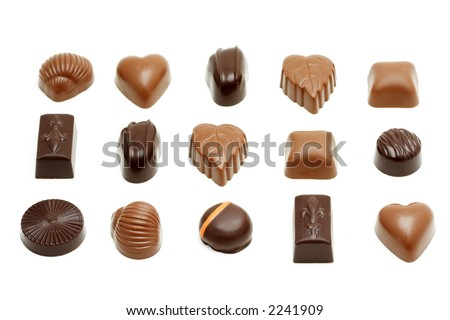 Different varieties of sweet and delicious chocolates