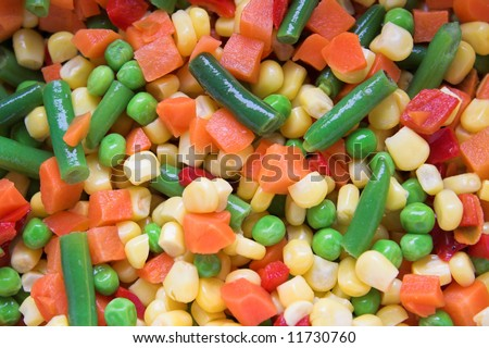 different vegetables background 3. - stock photo