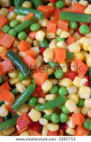 different vegetables background - stock photo