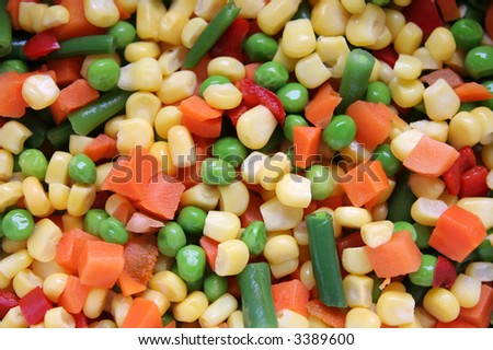 different vegetables background 2. - stock photo