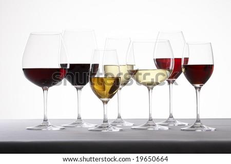 different wine glasses - stock photo