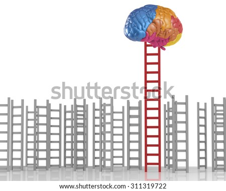 differentiation concept with creativity  - stock photo