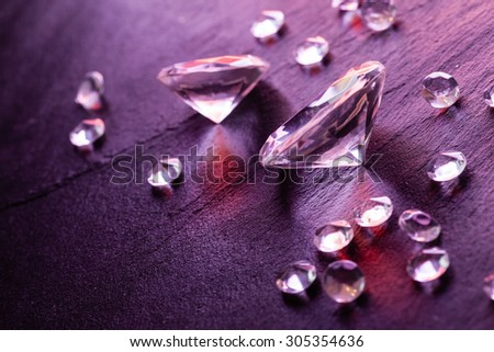 differernt diamonds - stock photo