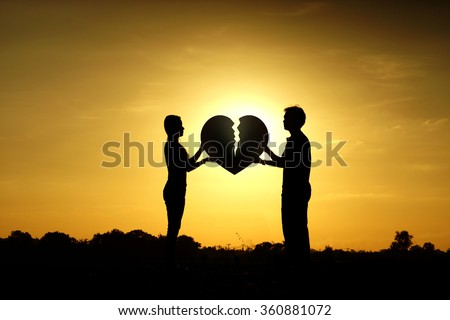 Difficult love and relationship concept                      - stock photo