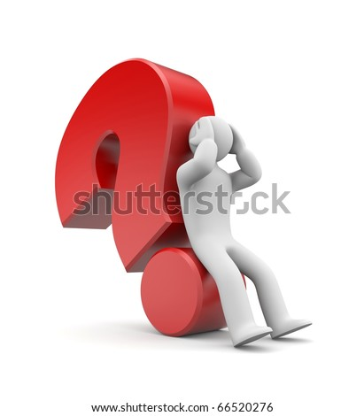 Difficult question - stock photo