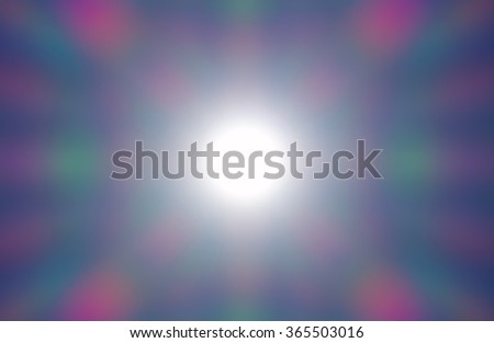 Diffraction phenomenon from a photograph of the sun on clear sky at 1/16000 of a second. Besides spot retouching and slight enhanced color saturation there were no edits. - stock photo