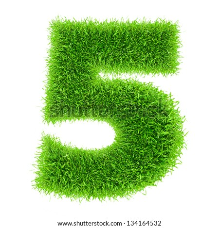 digit symbol 5 of grass alphabet