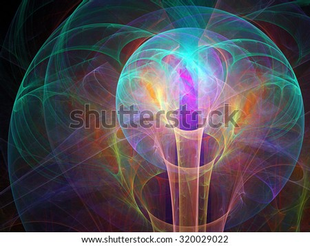 Digital abstract fractal background generated at computer. - stock photo