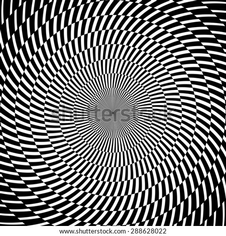 Digital abstract image with a psychedelic circular web pattern. Raster version - stock photo