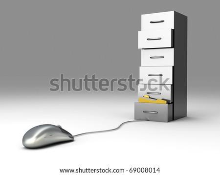Digital Archive - stock photo