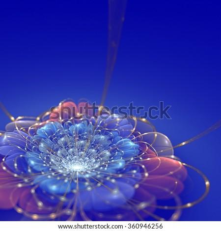 Digital Artwork floral graphic - stock photo