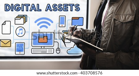 Digital Assets Accessible Unlock Information Concept - stock photo