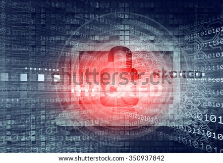 Digital background of Internet Security, system hacked  - stock photo