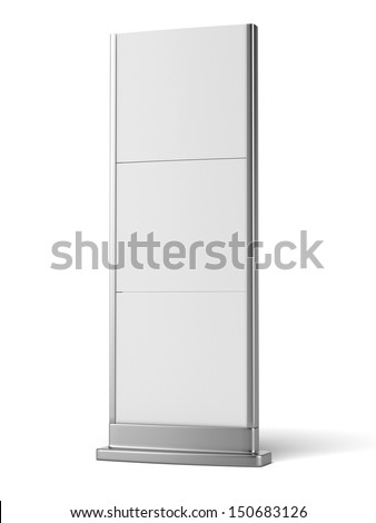 digital banner stand - stock photo