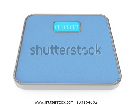 Digital Bathroom Weight Scale on a white background - stock photo