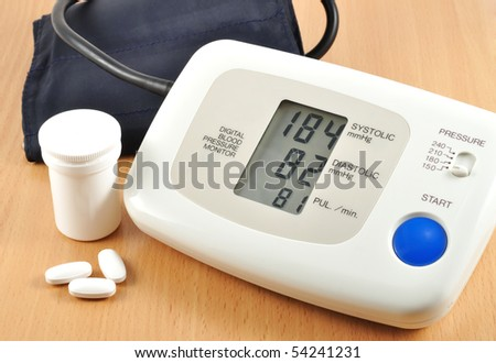 digital blood pressure monitor with tablets