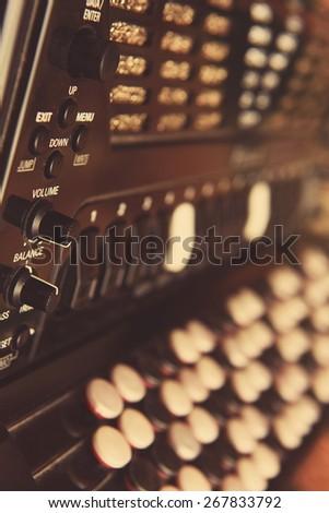 Digital Button Accordion - stock photo