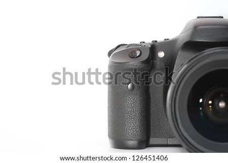 digital camera with copy space. - stock photo