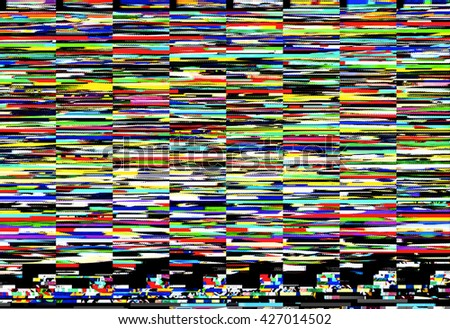 Digital capture of colorful display error or random glitch noise