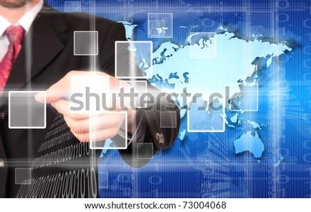 Digital choice, concept of virtual theme - stock photo