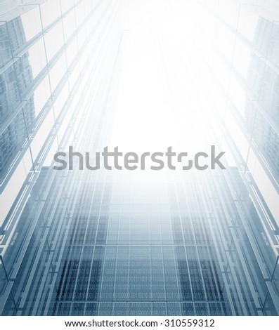 Digital City - stock photo