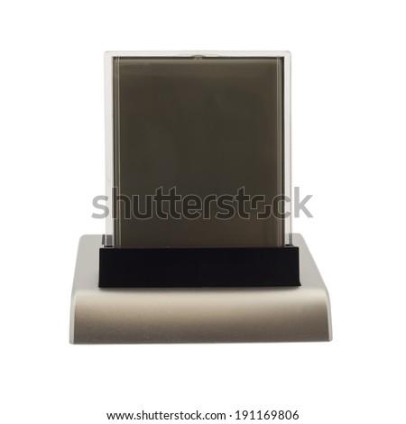Digital clock on white background - stock photo