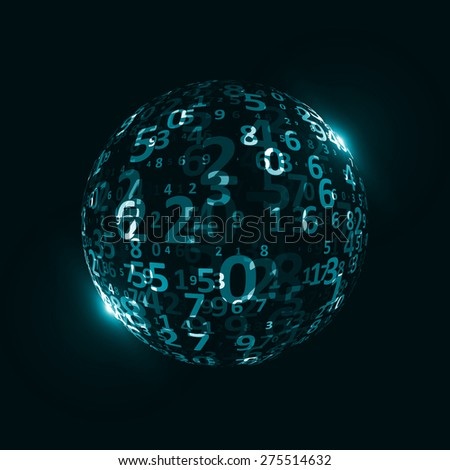 Digital code background, abstract illustration. The concept of globalization - stock photo