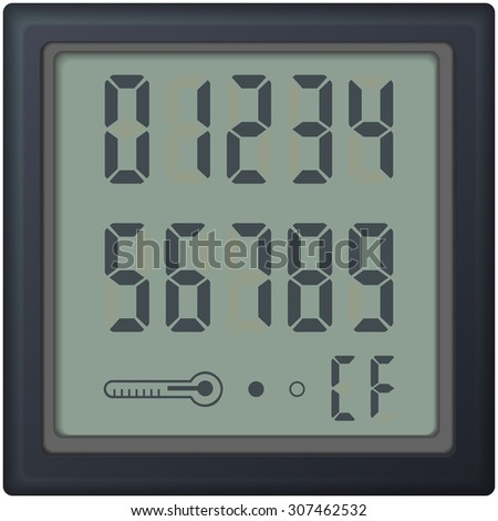digital count clock watch, with different numbers. Raster version.