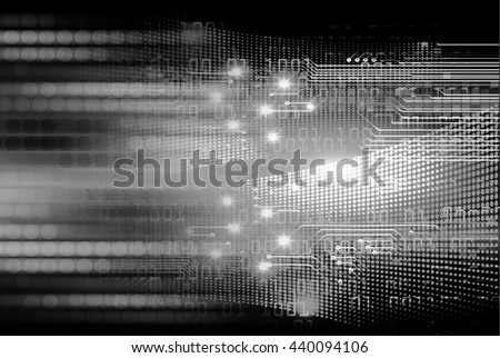digital data background, black abstract light hi tech pixel internet technology, Cyber security concept, Cyber data digital computer. eye scan virus. motion move speed. - stock photo