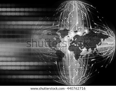 digital data background,black abstract light hi tech pixel internet technology, Cyber security concept, Cyber data digital computer. world - stock photo