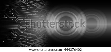 digital data background, black abstract light hi tech pixel internet technology, Cyber security concept, Cyber data digital computer. eye scan virus, motion move speed