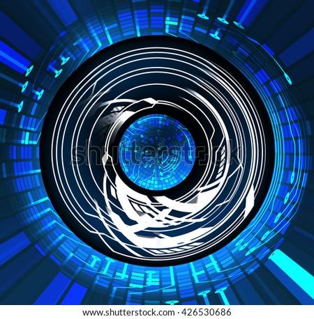 digital data background,blue abstract light hi tech pixel internet technology, Cyber security concept, Cyber digital, Cyber computer, Cyber background, Cyber Technology,computer security - stock photo