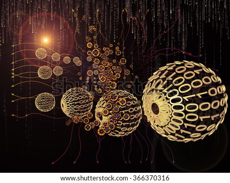 Digital Data series. Arrangement of numbers and design elements on the subject of science, education and modern technology - stock photo