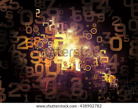 Digital Data series. Backdrop of numbers and design elements on the subject of science, education and modern technology - stock photo