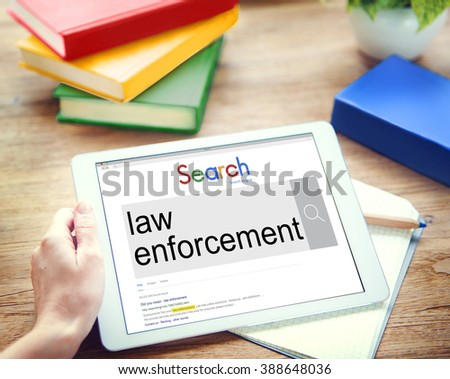 Digital Device Display Network Social Search Concept - stock photo