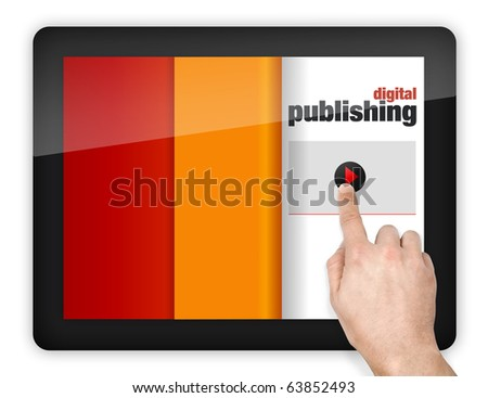 digital device with touchscreen - stock photo