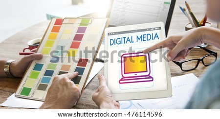 Digital Devices Innovation Multimedia Concept