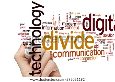 Digital divide concept word cloud background - stock photo