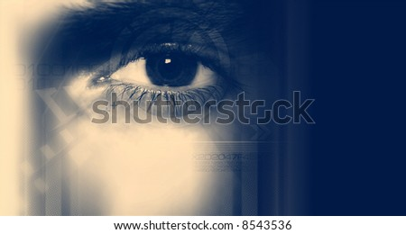 Digital Eye - stock photo
