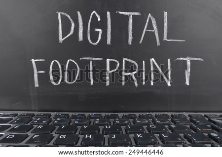 Digital Footprint - stock photo